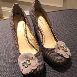 Tweed looking heels